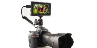 Ninja V mounted on a camera